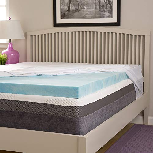 Simmons Beautyrest Comforpedic Loft from Beautyrest Choose Your Comfort 3-inch Gel Memory Foam Mattress Topper with Egyptian Cotton Cover Queen