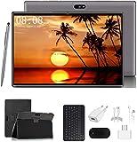 Tablet 10 Zoll Android 9.0 Tablet PC Mit Tastatur 4G LTE SIM, 3 GB RAM + 32 GB ROM, Quad-Core-Prozessor, 8000 mAh, 1080p Full HD IPS-Display, WLAN/Bluetooth/GPS