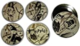 Western Pin-Up Girls Coasters from Sourpuss Clothing (Set of 4 in Metal Tin) by Sourpuss...