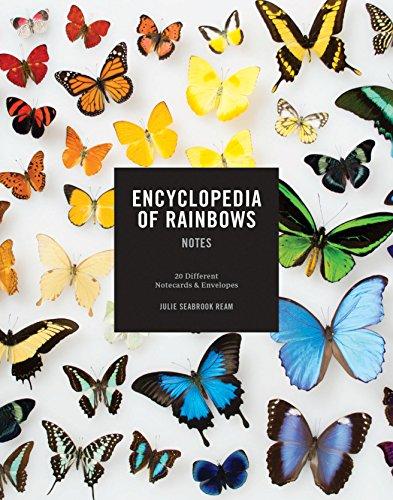 Notas da Enciclopédia dos arco-íris: 20 diferentes cartões e envelopes (cartões arco-íris, artigos de papelaria em branco colorido)