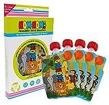 Nom Nom Kids 140ml ANIMAL bolsas de comida para bebés reutilizables - 4 pack