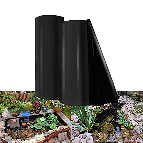 Mallas Flexibles para estanques Espesor 0.5 mm Revestimiento Estanques Forros de Estanque Negro Membrana Resistente a la Rotura Material de HDPE para Pond Liner para jardín,paisajismo (7×10m)