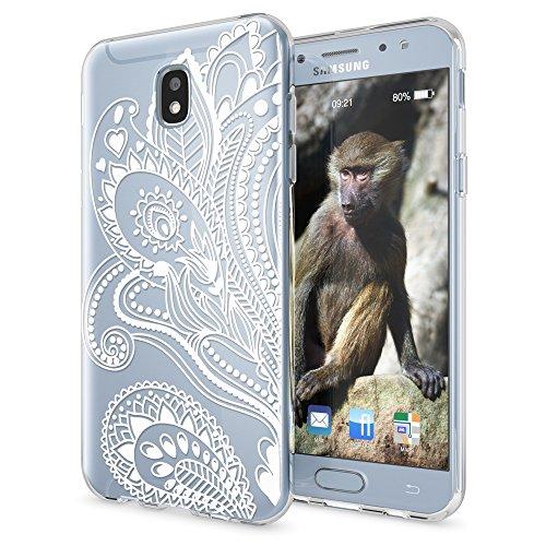 NALIA Custodia compatibile con Samsung Galaxy J5 2017 (EU-Model), Motivo Cover Protezione Silicone Trasparente Sottile Case, Morbido Ultra-Slim Protettiva Bumper Guscio, Designs:Artificial Flowers