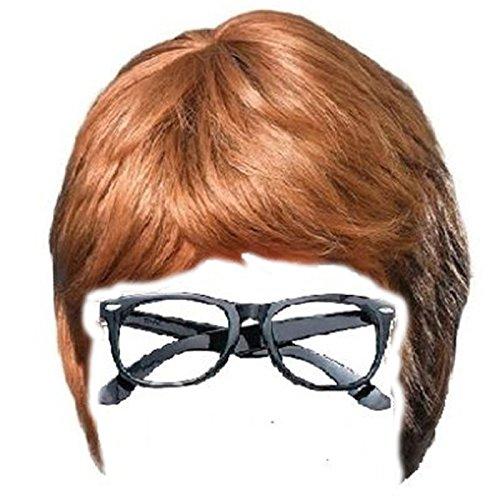 Austin Powers Wig and Glasses Set by Sofia's Closet