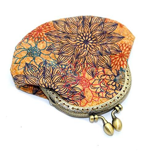 YueLove Neue Geldbörse Damen Retro Vintage Flower Kleine Haspe Portemonnaie Brieftasche Geldbeutel Elegant Handtasche Frauen Mode