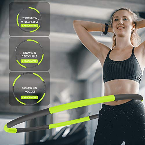 RIRGI-Hula-Hoop-Weighted-Hula-Hoops-for-Adults-Kids-with-Skipping-Rope-and-Mini-Tape-Measure-8-Sections-Detachable-Hula-Hoop-Foam-Soft-Padded-Fitness-Exercise