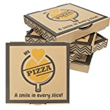 10 x 10 inch Small Pizza boxes 10' L x 10' W x 1.5' H (20 boxes) Corrugated Kraft paper Brown Individual Mini pizza box 10x10 for personal pan pizza, cookies, pie, kids pizza party prop, takeout delivery