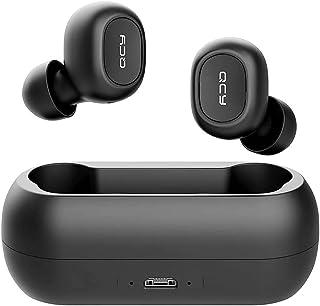 Fone de Ouvido Bluetooth T1C QCY Preto, com Conectividade Bluetooth versão 5.0, Resistência à água IPX4 proteção contra re...