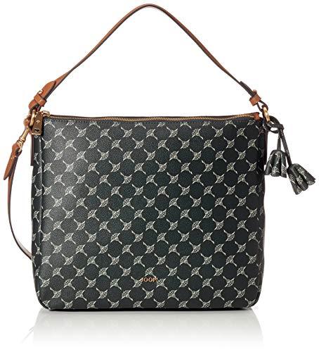 Joop! Hobo Cortina Athina aus Kunststoff Damen Handtasche mit Reißverschluss, Grün (Darkgreen), 12.5x28x33 cm (B x H x T)