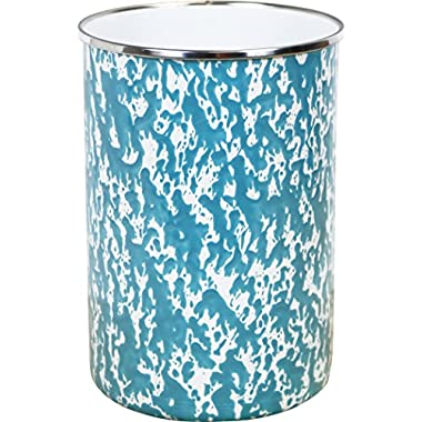 Calypso Basics by Reston Lloyd Marble Enamel on Steel Utensil Holder, Turquoise