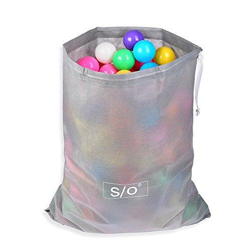 Schramm® Tragetasche Aufbewahrungsbeutel passend für 50 Bälle 49,5 cm x 29,5 cm Bällebad Bälle für Kinder