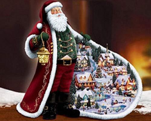 KUANGPP Puzzle de 6000 Piezas, Juguete para niños Adultos, Abrigo de Papá Noel, Arte de Rompecabezas de Tiempo Perezoso de la Ciudad