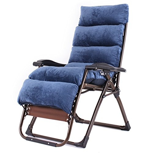 LI JING SHOP - Liegestühle Haushalt Mittagspause einfach Mittagspause Balkon Nickerchen Mobiler Liegestuhl ( Farbe : Navy blau )
