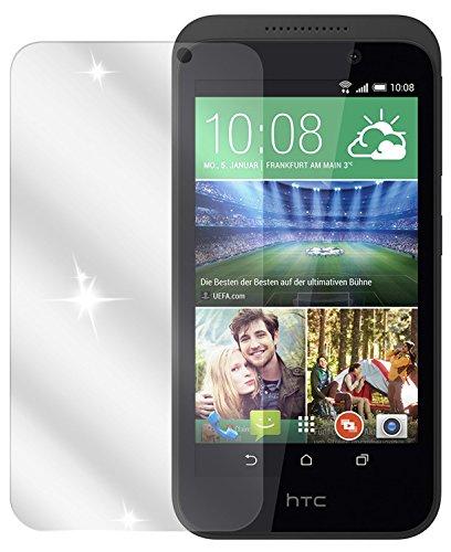 dipos I 2X Schutzfolie klar kompatibel mit HTC Desire 320 Folie Bildschirmschutzfolie