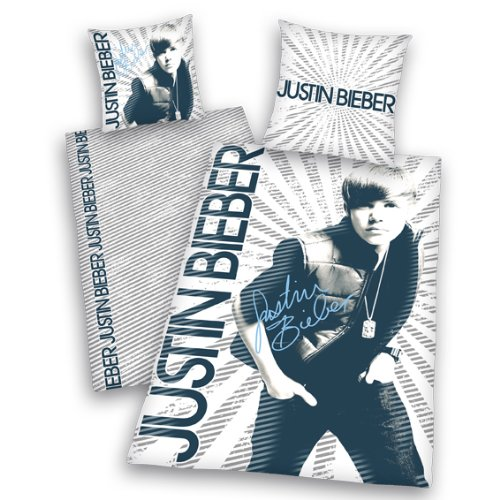 Herding 440802064 Bettwäsche Justin Bieber, Kopfkissenbezug: 65 x 100 cm + Bettbezug: 160 x 210 cm ( Schweiz ), 100 % Baumwolle, Renforce