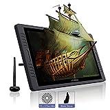 HUION KAMVAS Pro 22 Tableta Grafica con Pantalla Libre de Batería lápiz Display con 10 Teclas de Prensa Personalizados y un Toque Bar en Ambos Lados, Función de inclinación, 8192 Niveles
