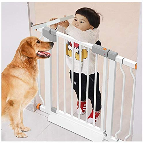 FCXBQ Baby Gate Baby Stair Railing Child Safety Door Clôture Free Punching Household Protective Railings Pet Dog Gate (Couleur: Blanc, Taille: 111-118cm)