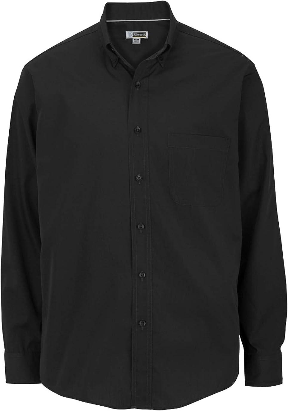 Edwards Men's Lightweight Some reservation Long Poplin Sleeve Direct sale of manufacturer Shirt