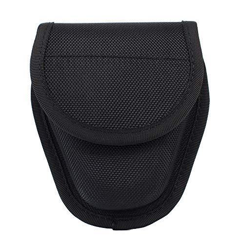 LytHarvest Geformte Doppel-Handschellen-Hülle, versteckte Schnappmanschette für Arbeitsgürtel, Handschellen-Halter, Polizeihandschellen-Tasche