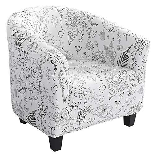NIBESSER Sesselbezug Stretch Sesselüberwurf Sesselhusse Sesselschoner Modern Muster Elastisch Stretch Husse für Club Lounge Cocktail Sessel