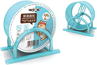 1 Pc Hamster Wheel Pet Comfort Treadmill Running Wheels Quiet Hamster Exercise Wheel Silent Spinner Wire Cage Small Animals Accessories(Blue)
