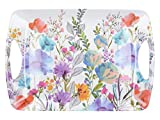Creative Tops Large Plastic Tray / Serving Tray with 'Meadow Floral' Design, Melamine, Multi-Colour, 47.5 x 33 cm