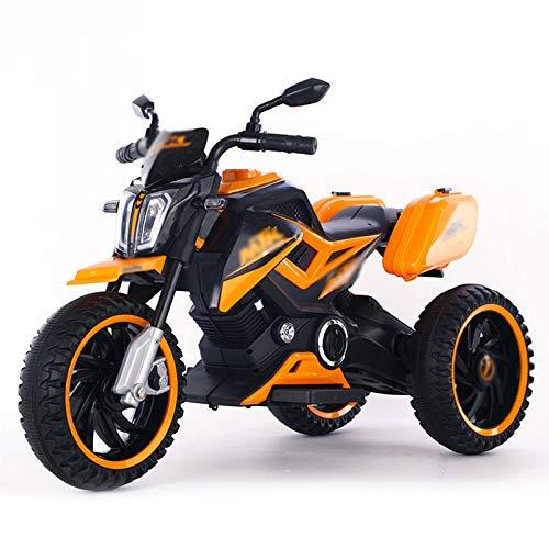 Las Motocicletas Eléctricas para Niños, Carros De Juguete Eléctricos De Tres Ruedas, Pueden Sentarse En Los Triciclos para Niños, Adecuados para Niños De 1 A 8 Años,Amarillo
