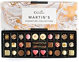 Martins Chocolatier Signature Collection Chocolate Gift Set - 30 Handmade Chocolates - 15 Chocolate Flavours Box of...
