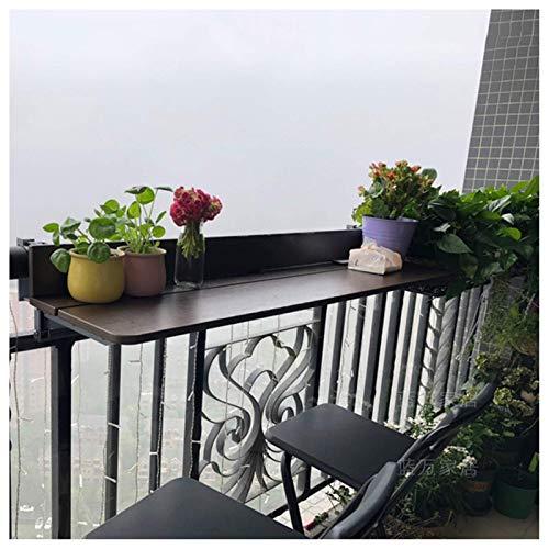 Mesa colgante plegable con barandilla, elevador para exteriores, mesa de balcón, escritorio...