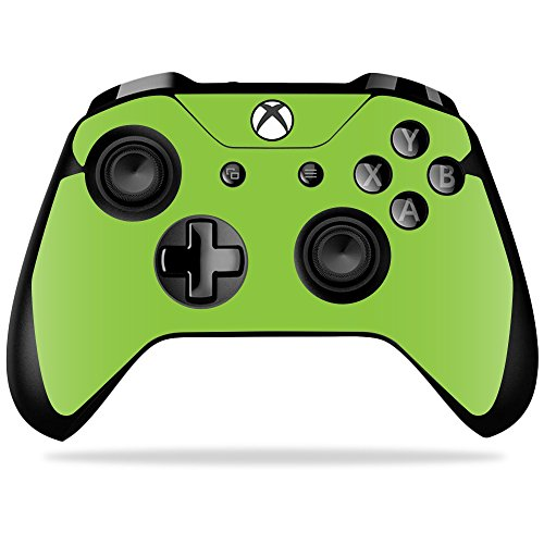 MightySkins Skin Compatible with Microsoft Xbox One X Controller - Solid Lime Green   Protective, Durable, and Unique Vinyl wrap Cover   Easy to Apply, Remove, and Change Styles   Made in The USA