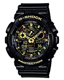 Casio G-SHOCK Orologio 20 BAR, Giallo/Nero, Analogico - Digitale, Uomo, GA-100CF-1A9ER