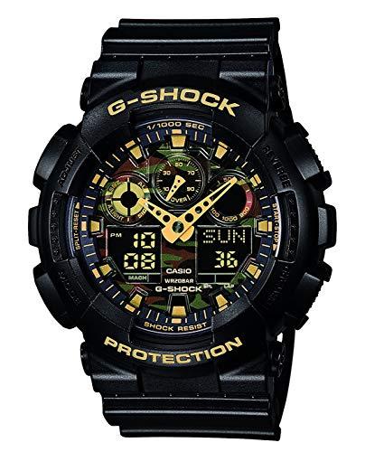 Casio Herren-Armbanduhr Analog - Digital Quarz Resin GA-100CF-1A9ER