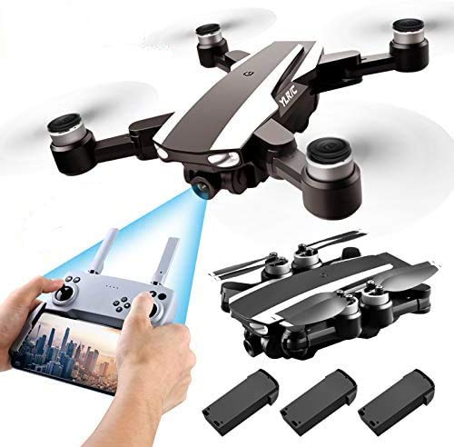 S105 PRO Drone GPS 5G Wifi Professional 4K HD Double Camera Brushless Motor Drones Stabilier, Drone for Adult with 3 Batteries