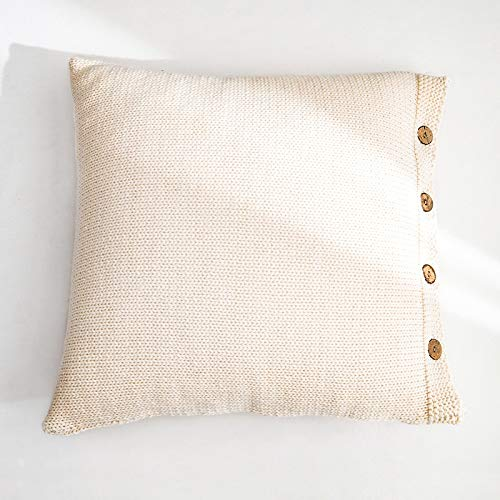 H/A Vera línea Gruesa Cojines de sofá Cubierta Almohada Almohada de Software instalados nórdica Morandi MENGN (Color : Off-White, Size : 45 * 45cm)