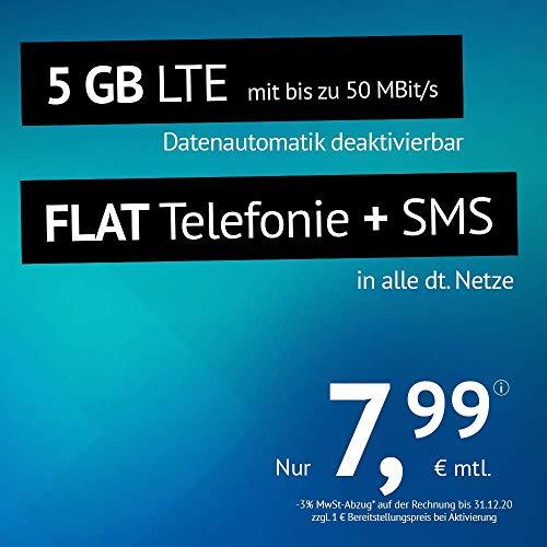 5 GB LTE Smartphone-Tarif für NUR 7,99 Euro im Monat