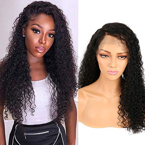 Missexy 13x4 Lace Front Wigs Human Hair Wig for Black Women Virgin Brazilian Jerry Curl Wig Pre Plucked With Baby Hair Natural Hair Curly Wigs 14 Inches