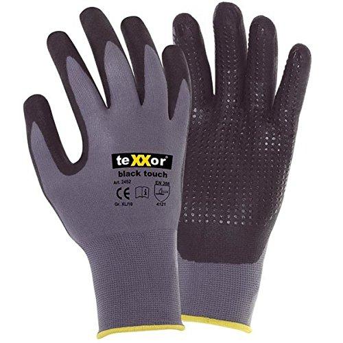 Preisvergleich Produktbild Ansell Texxor Arbeitshandschuhe black touch® 2452,  Größe:10