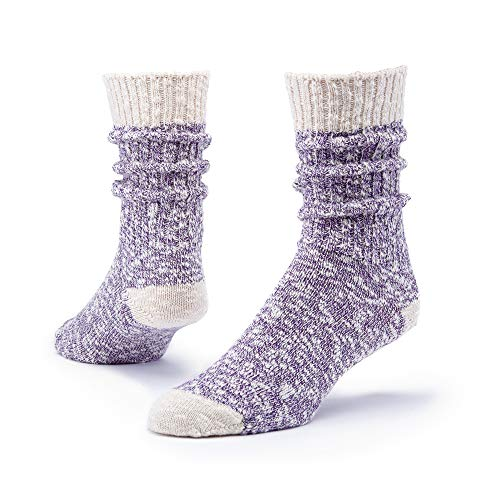 Maggie's Organics - Organic Cotton Ragg Socks for Women & Men - 1 Pair - Unisex - Casual, Loose Nubby Knit, & Relaxed - Outdoor - Soft - Long Lasting - Made In The USA