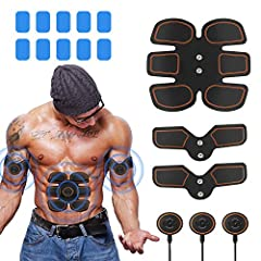 【What's EMS Technology?】- EMS directly stimulates muscle auto-contraction movement through micro-current. Pick up the Abs stimulator and stick on the body. Muscle toner can help you gain stronger muscle lines by promoting muscle movement and get the ...