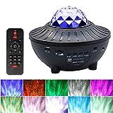 Cofemy Proyector de Luz Estelar, 2 en 1 LED Starry Night Light Lamp y Bluetooth Voice Control Music Speaker, 21 colores con control remoto para niños Adultos Decoración de la habitación