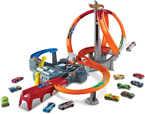 Hot Wheels Spin Storm Track Set Orange...