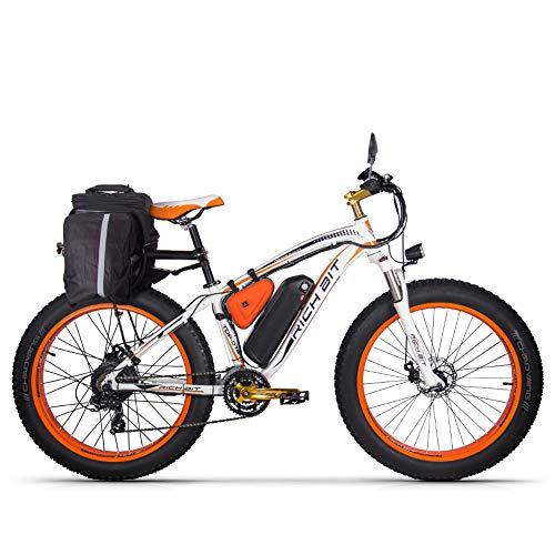 RICH BIT Bicicletta Elettrica a 26 Pollici della Bici Elettrica della Gomma Grassa del Motore 48V 1000W con Shimano 21 velocità, Batteria al Litio, Doppio Freno a Disco Idraulico
