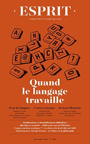 Esprit décembre 2019 Quand le langage travaille (French Edition)