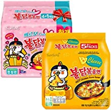 Samyang Chicken Fried Noodles (10 Packs 5x Carbo & 5x Cheese) Hot Fusion Select