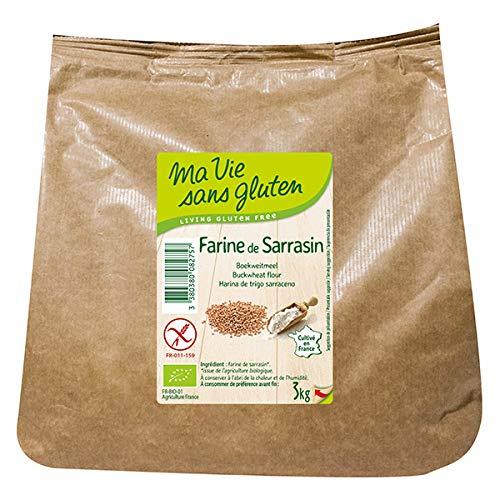 MA VIE SANS GLUTEN - Farine De Sarrasin Bio Et Sans Gluten 3 Kg - L'unité