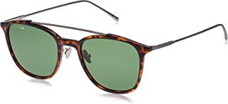 Lacoste Rectangular Paris Collection Tortoise/Ruthenium Sunglasses For Men 53-20-145mm