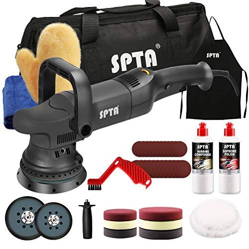 Buffer Polisher, SPTA 5-Inch 125mm Dual Action Random Orbital Car Polisher,Car Detailing Kit, 4Pcs 5inch & 4Pcs 6Inch Polishing Pad,Packing Bag for Car Polishing and Waxing-DAPSET-US
