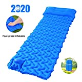 Sportneer Camping Sleeping Pad Built-in Pump, Inflatable Camp Mat Pads Lightweight Compact Tent