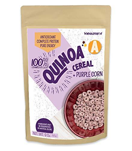 Quinoa Breakfast Cereal - Quinoa A + Purple Corn (9oz) 100% whole grain organic plant based with...