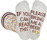 Saucey Socks Grey Bring Me Beer Socks, Luxury cotton unique CHEERS designs, Great Gift for Men and...